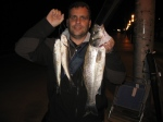 Buena pesquera nocturna.