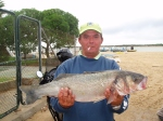 """Robalo record  a surfcasting, """"Manolo Chipi""""."""